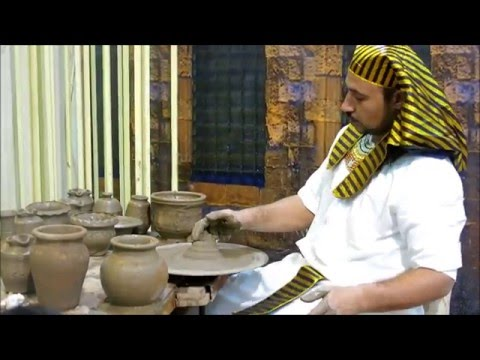 Global Village Dubai 2016-  Magical Hands of an Amazing Potter in Egypt Pavilion