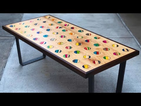 COFFEE TABLE/WALL ART MADE OUT OF SKATEBOARDS