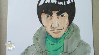How to draw Maito Gai (Might Guy) マイト・ガイ