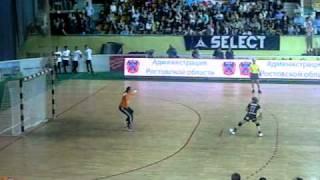 Серия 7ми метровых в финале Кубка России по гандболу 2011