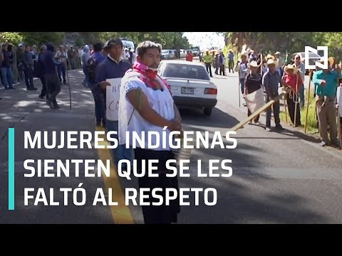 Visten de mujer a alcalde de Huixtán; indígenas de Huixtán molestas por discriminación - En Punto