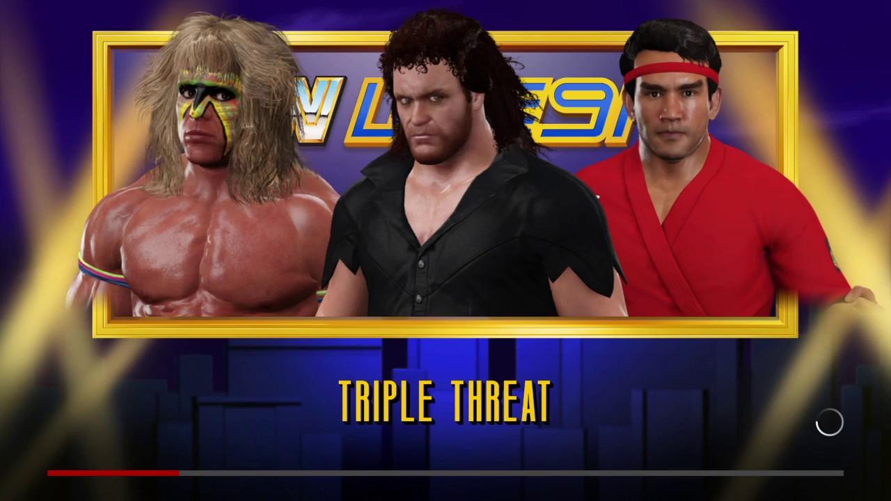 WWE 2K17 Undertaker '91 VS Ultimate Warrior VS Ricky ... Wwe Ultimate Warrior Vs Undertaker