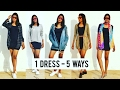 How to Style Bodycon Dress in 5 Ways | Street Style | Summer Styling | Transformations