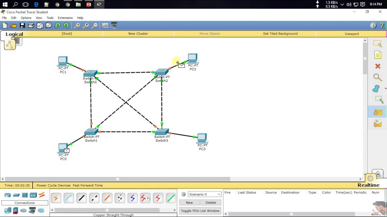 Mesh Topology Using Cisco Packet Tracer  YouTube