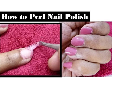 how to peel nail polish easy way to remove nail polish. Black Bedroom Furniture Sets. Home Design Ideas