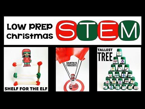 Low Prep Christmas STEM Challenges