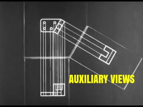 Auxiliary Views / Single Auxiliaries - Engineering Drawing for Students