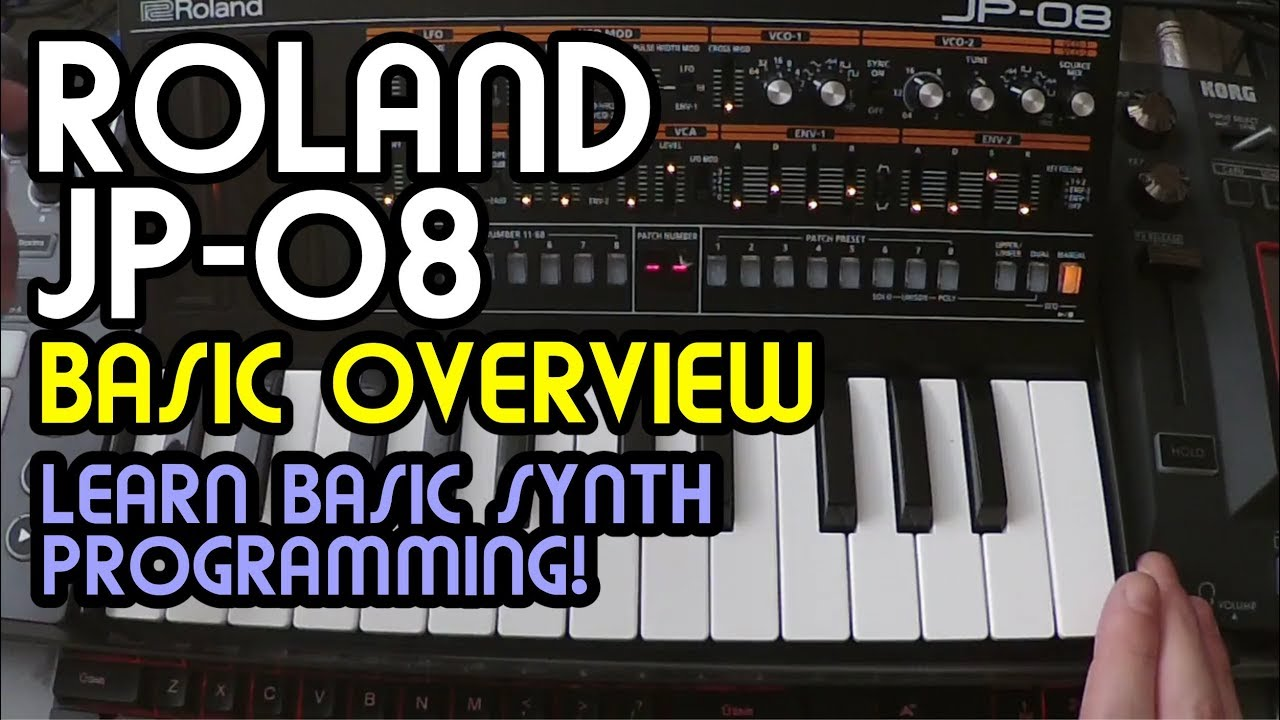 Basic Overview // Roland Boutique JP-08 Synth Tutorial