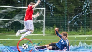 SLIP AND SLIDE FUßBALL CHALLENGE