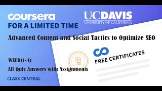 Advanced Content and Social Tactics to Optimize SEO, week (1-4) All Quiz with Answers.