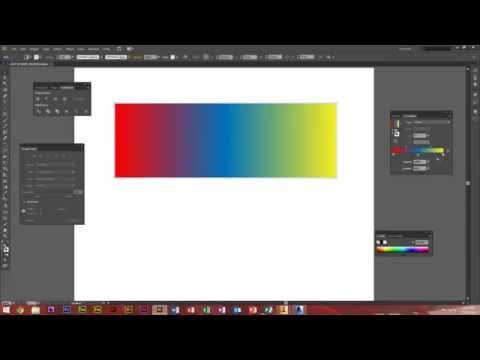 Adobe Illustrator CS6 - How To Use The Gradient Tool
