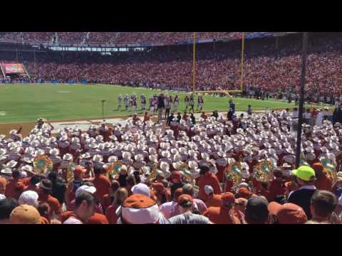 Texas Longhorn Band touchdown celebration Texas Fight! Oct 8, 2016 TX-OU