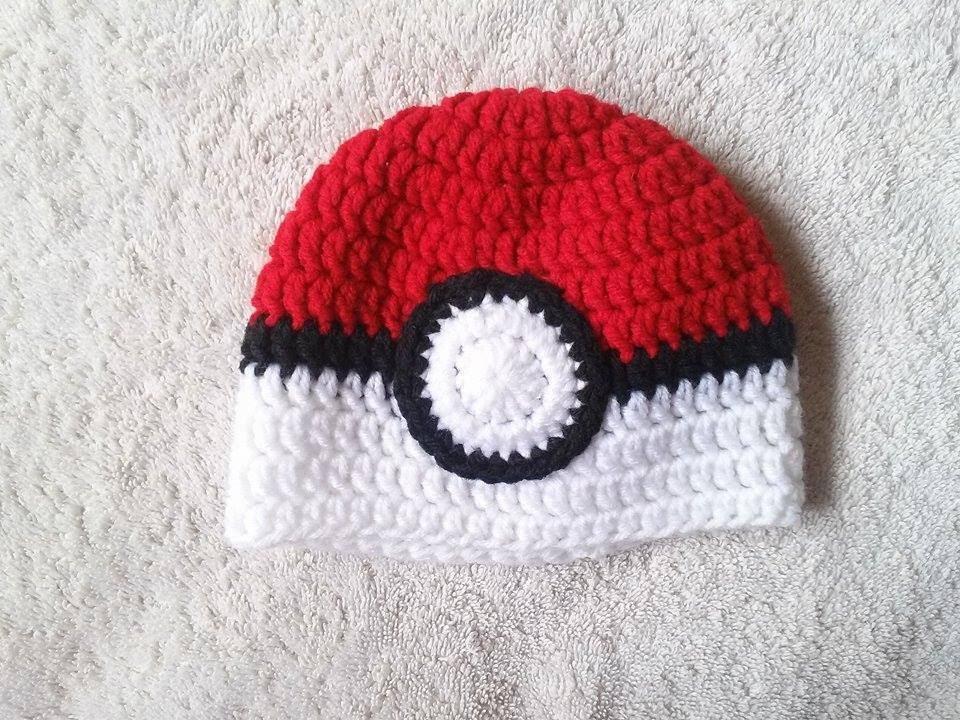 Crochet Pokeball Baby Hat Youtube