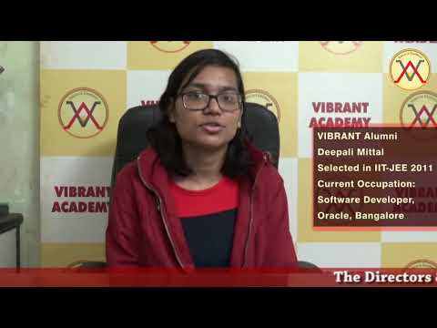 Joining Vibrant Academy was the main Soul reason for my clearing IIT-JEE-2011.