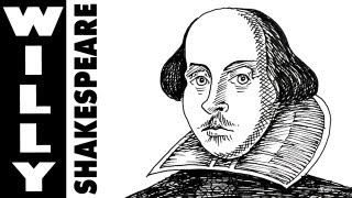How to draw William Shakespeare