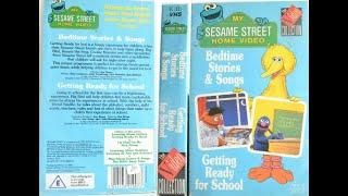 SesameStreet Bedtime Stories & Songs & Getting Ready For School 1988 UK VHS
