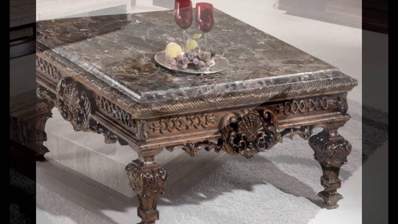 Granite top coffee table sets youtube for Stone topped coffee tables