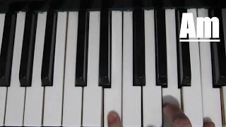 ►Как играть на пианино Виктор Цой - Перемен►легкий урок на пианино