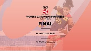 Live: Turkey v Brazil - FIVB Volleyball Women's U23 World Championship Turkey 2015