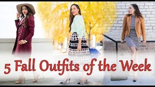 Fall Outfits of The Week #OOTW | Elizabeth Keene