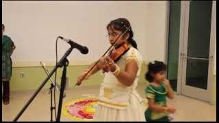 Keerthi Sadasivan Violin - Indian National Anthem  ONAM 2012