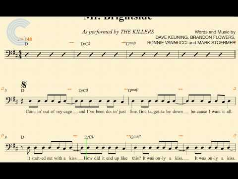 Cello - Mr. Brightside - The Killers - Sheet Music, Chords, & Vocals