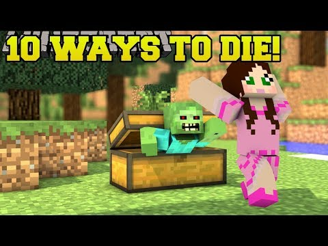 Minecraft: STRANGEST DEATHS POSSIBLE!!! 10 MORE WAYS TO DIE - Custom Map