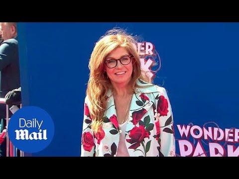Connie Britton is pretty as a petal at Wonder Park premiere