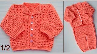 Кофточка крючком. 1/2 часть Мастер класса. Blouse crochet