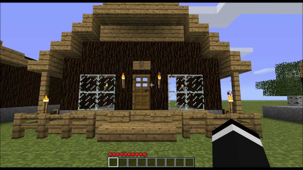 Minecraft home design windows tips youtube for Designing a house tips