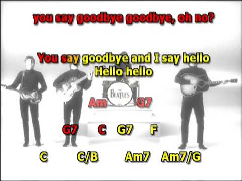 Hello Goodbye Beatles best karaoke instrumental lyrics chords