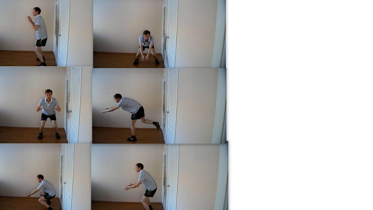 Волейбол. Обучающие видео - стойка волейболиста. Стартовая стойка.