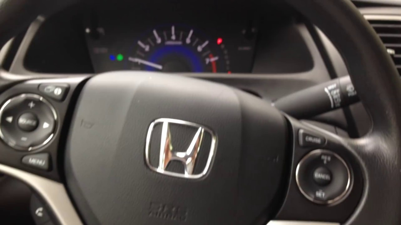 How To Reset Service Due Light On 2015 Honda Civic Youtube