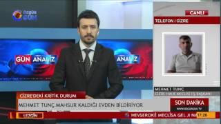 Cizre Halk Meclisi Başkanı Mehmet Tunç: 37 yaralının bulunduğu binada yangın çıktı