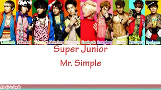 Super Junior (슈퍼 주니어): Mr. Simple Lyrics
