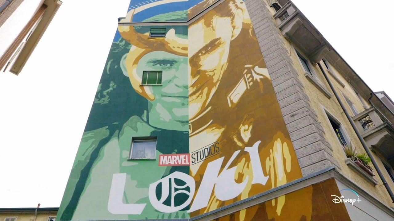 Disney+ | Loki - Il murales realizzato da Lucamaleonte