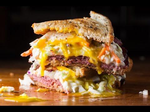 Best Pastrami Reuben Sandwich - SAM THE COOKING GUY recipe video
