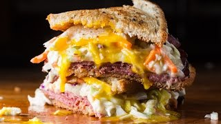 Pastrami Reuben Sandwich - Sam The Cooking Guy Recipe Video