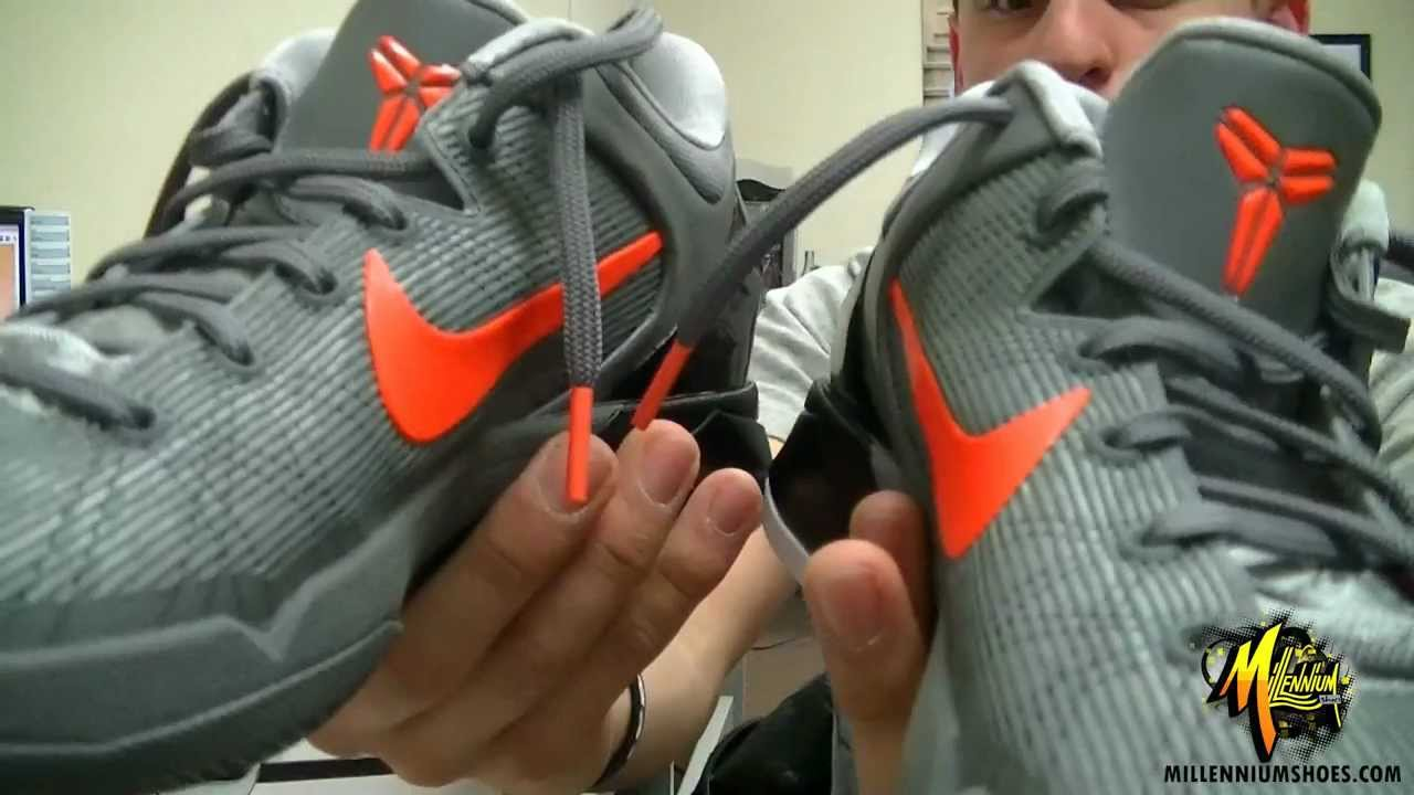f63b4a86cda6 Nike Zoom Kobe VII System Wolf - YouTube