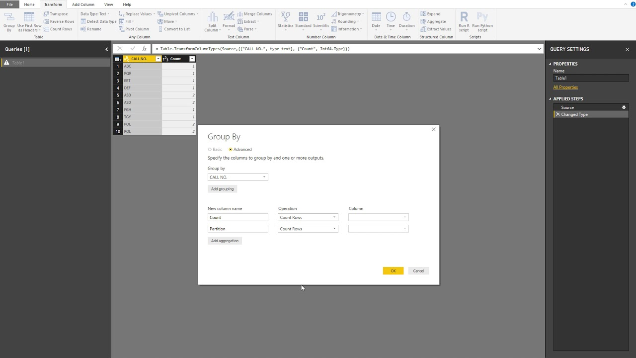 Find and index duplicate figures in Power BI and Power Query