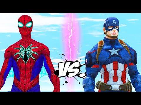 CAPTAIN AMERICA VS SPIDERMAN (ANAD) - EPIC BATTLE