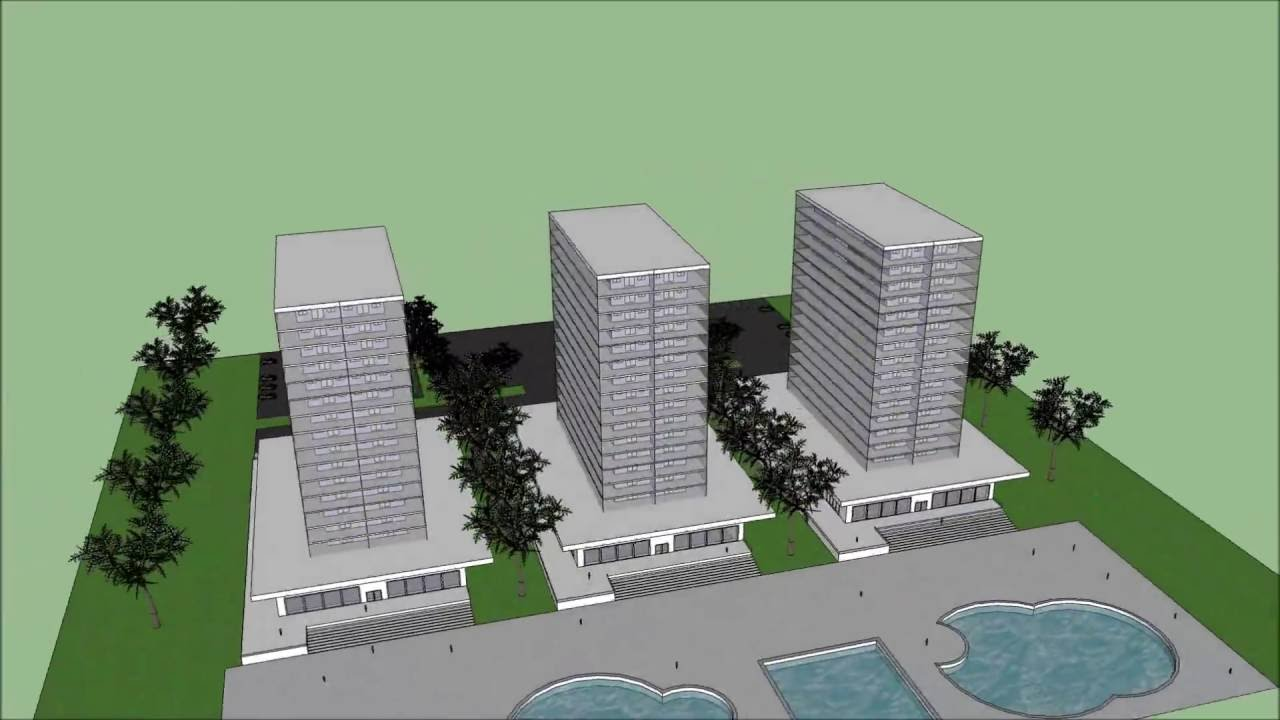 Sketchup pro 8 hotel hd youtube for Mobilia sketchup 8