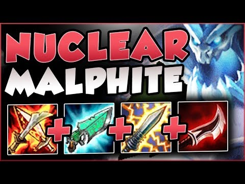 NUCLEAR MALPHITE TOP INSTA 1 SHOT ENEMY TEAM WITH ONE ABILITY?? MALPHITE GAMEPLAY League of Legends