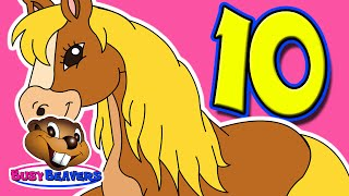 """10 Little Horses"" (Level 1 English Lesson 09) CLIP - Counting in English, Count Numbers"