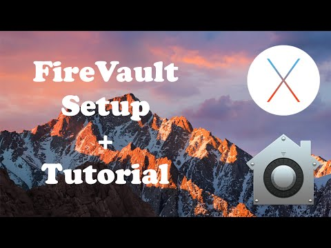 Enable FireVault Setup/Tutorial for Mac OS X