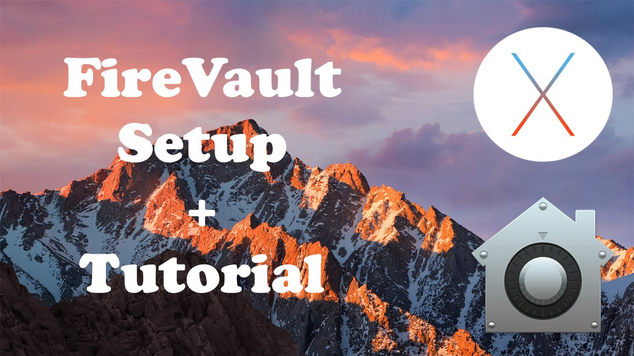 Enable FileVault Setup/Tutorial for Mac OS X