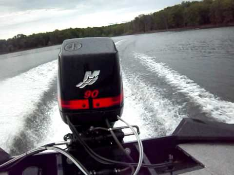 2005 Tracker Pro Team 185 with a 90hp Merc running with McFadden Marine
