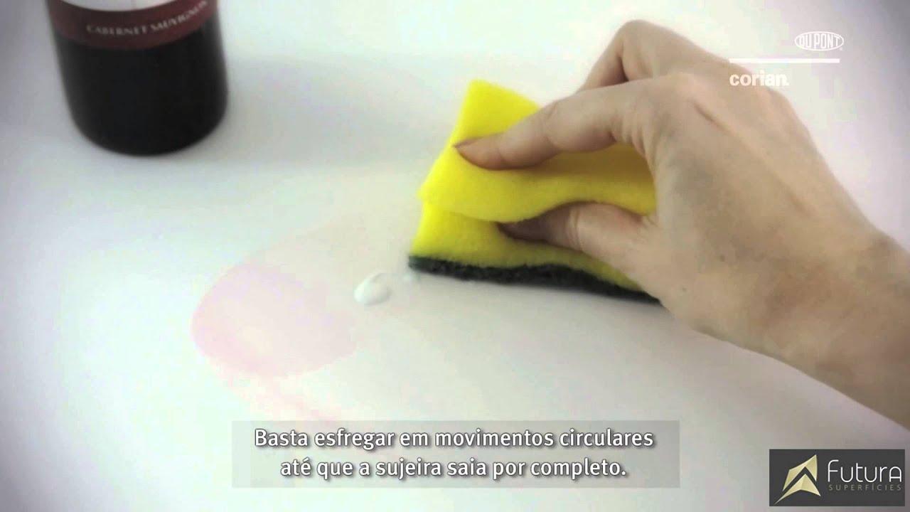 Limpeza e Conservação das Cubas e Bancadas em DuPont™ Corian®
