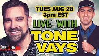 Live BTC Bitcoin Technical Analysis with Tone Vays - 👥💯 BTC Price Predictions
