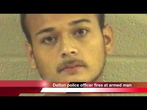 Dalton Georgia police fire at armed man in house